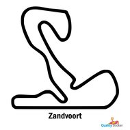 Race circuit muurstickers