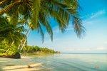 Tropisch strand en zee tuinposter