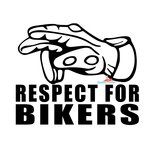 Respect for bikers (2) sticker
