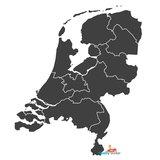 Nederland landkaart muursticker