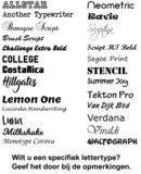 Lettertypes Qualitysticker