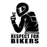 Respect for bikers sticker