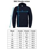 Maattabel hoodie