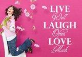 Live well laugh often love much. Muursticker / Interieursticker_