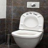 Put me down toilet sticker_