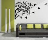 Groep vogels in boom_