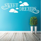 Sweet dreams in de wolken. Muursticker_