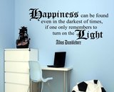 HARRY POTTER. Dumbledore quote, Happiness can be found even in the darkest of times... Muursticker_