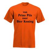 Van prins pils naar bier koning. Keuze uit T-shirt of Polo en div. kleuren. S t/m 5XL_