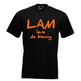 Lam leve de koning. Keuze uit T-shirt of Polo en div. kleuren. S t/m 5XL_
