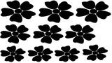 Set (raam)sticker bloemen. ( Bijpassend bij Groeiende bloemen sticker )_