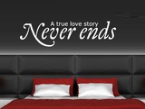 A true love story never ends_