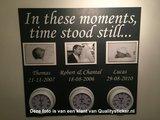 In these moments time stood still met data Muursticker_