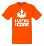 King of core met kroon T-shirt of Polo en div. kleuren. S t/m 5XL_