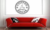 Coffee break muursticker_