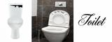 Set toiletstickers. Toilet monster, Put me down! & Deursticker_