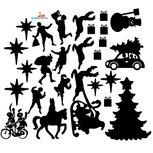 Sint en kerst set - statische raamfolie