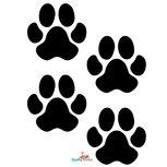 4 Hondenpootjes autostickers