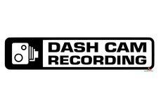 Dash cam recording autosticker
