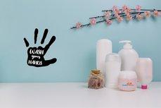 Wash your Hands / Handen wassen (3) sticker