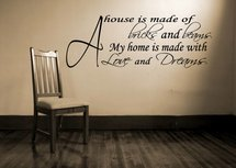 A House Is Made Of Bricks And Beams. Muursticker