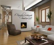 A family is a little world created by love. Muursticker / Interieursticker