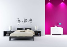 You + Me = Us. Muursticker / Interieursticker
