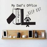 Kantoor sticker Daddy's office