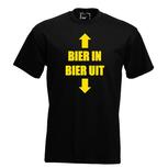 Bier in, Bier uit. Keuze uit T-shirt of Polo en div. kleuren. S t/m 5XL
