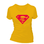 Super mom. Dames T-shirt in div. kleuren. XS t/m 3XL
