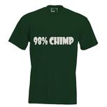 98% chimp. Dames T-shirt in div. kleuren. XS t/m 3XL