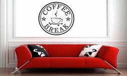 Coffee break muursticker