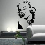 Marilyn Monroe portret muursticker