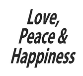 Love, Piece & Happiness trapsticker