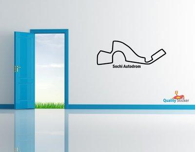 Race circuit Rusland - Sochi Autodrom muursticker