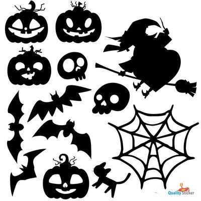 Halloween set - statische raamfolie