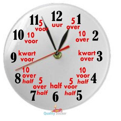 Klok rond 'Leren klokkijken'
