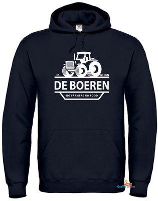 Ik steun de boeren hoodie (unisex). Maat S t/m 5XL