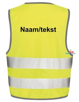 Veiligheidshesje met naam of tekst voor kinderen