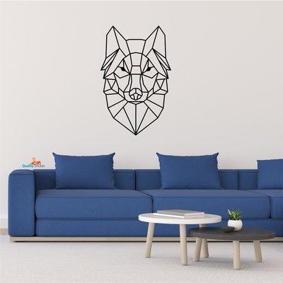 Wolf geometrische muursticker