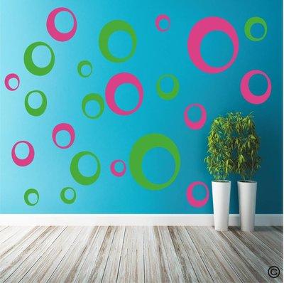 Retro cirkels 2 kleurig