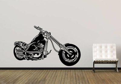 Chopper motor muursticker