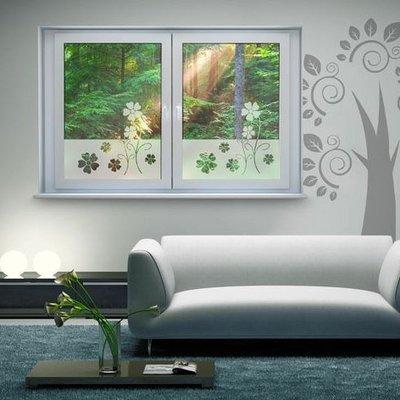 Groeiende bloemen (raam)sticker