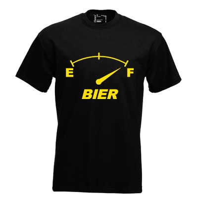 Bier fuel meter. Keuze uit T-shirt of Polo en div. kleuren. S t/m 5XL