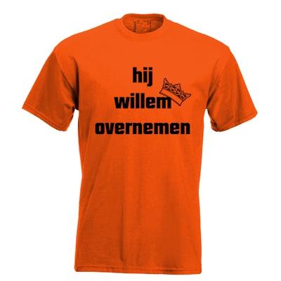 Hij willem overnemen. Keuze uit T-shirt of Polo en div. kleuren. S t/m 5XL