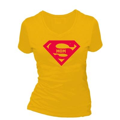 Super mom. Dames T-shirt in div. kleuren. XS t/m 3XL
