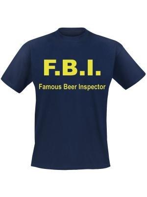 F.B.I. Famous beer inspector. Keuze uit T-shirt of Polo en div. kleuren. S t/m 5XL