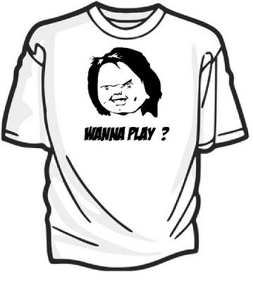 Chucky wanna play? Keuze uit div, kleuren t-shirts van S t/m 5XL.