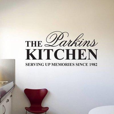 Muur naamsticker voor in de keuken