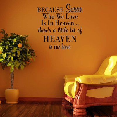 Because 'JOUW NAAM' who we love is in heaven... theres a little bit of heaven in our home. Muursticker